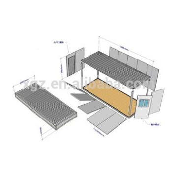 low cost prefab container steel houses made of fiberglass sandwich panel