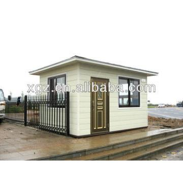 Beautiful flat roof steel frame prefabricated house
