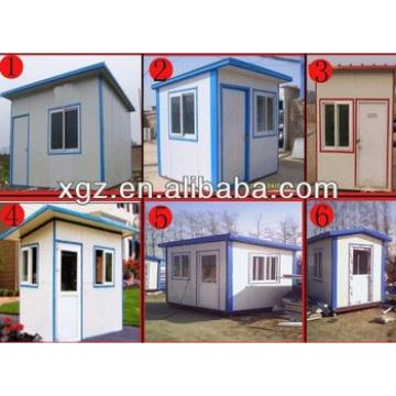 Small flat roof steel structure Prefabricated Expandable house for sale