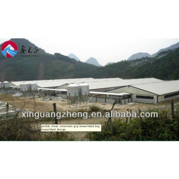 professional design light steel structure pig house for Japan