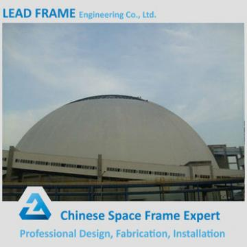 Light steel structure dome space frame for shed