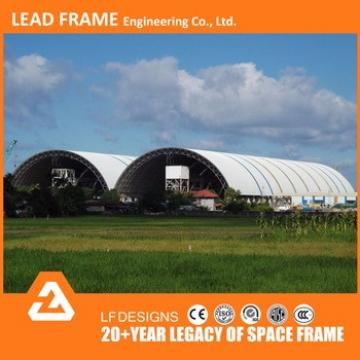 Windproof Light Steel Space Frame Roofing System Dry Coal Shed Building