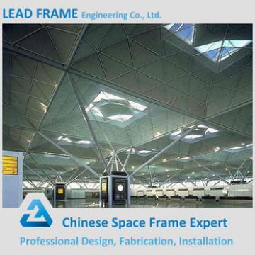Prefabricated Railway Station Steel Structure With Space Frame Roof