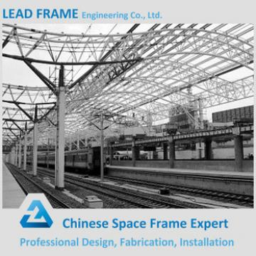 Lightweight steel canopy train station roof truss