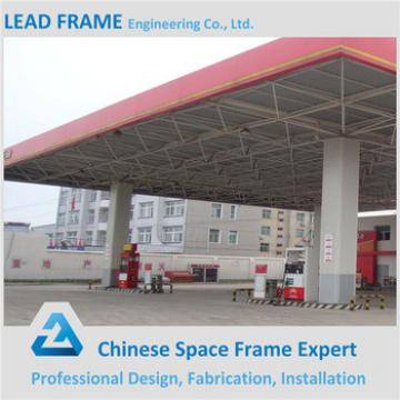 High Standard Prefab Steel Structure Gas Station Canopy For Sale