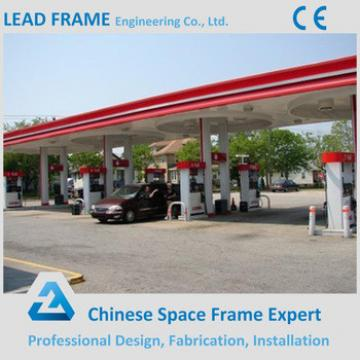 High Standard Lightweight Steel Frame Service Station for Sale