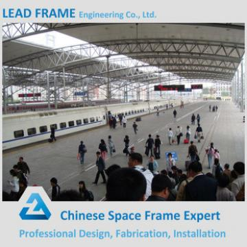 flexible customized design structure steel fabrication for train station