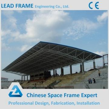 Lightweight space frame steel roofing for school stadium