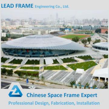 Long span prefabricated stadium curved roof