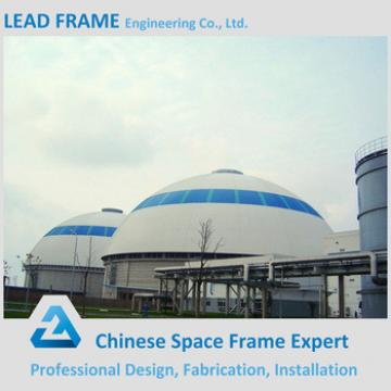 Light gauge steel space frame dome shed for cover