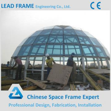 Large Scale Light Self-weihgt Steel Structure Building Glass Dome for Hot Sale