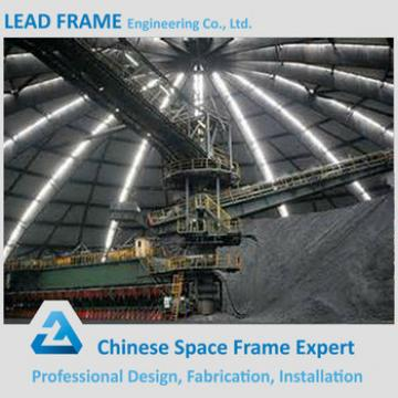 Pre Made Steel Construction Building Prefabrication Steel Frame Structure Dome Roof for Coal Storage