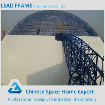 Galvanized Steel Leadframe Made Dome Coal Yard Prefabricated Steel Roof Frame