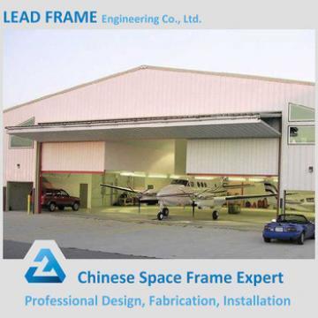 Long span antirust steel space frame aircraft hangar