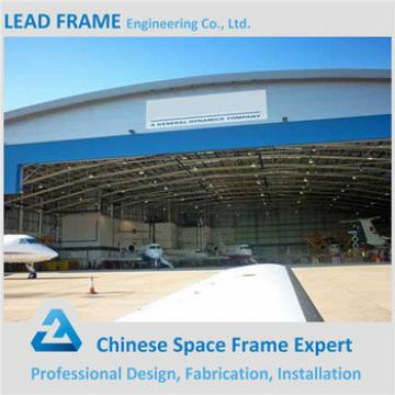 professional steel structure space frame prefabricated arched hangar