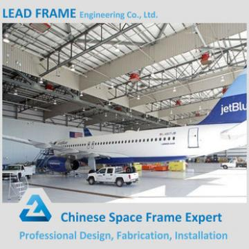 Different types space frame steel structure airplane hangar