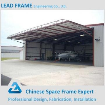 Fast installation steel space frame hangar building