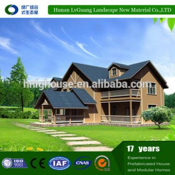 2017 most popular prefabricated log wooden homes