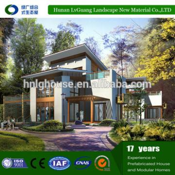 beautiful appearance prefab light steel structure modular villa house
