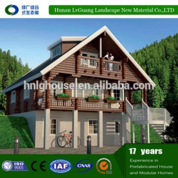 New design beautiful resort prefab canadian wooden chalet house