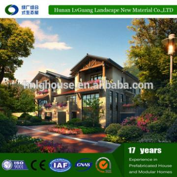 villas modern prefabricated log cabins wooden villa house