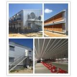 whole low cost prefabricated poultry farming chicken hen building with equipment