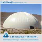 Long span waterproof space frame design for coal storage