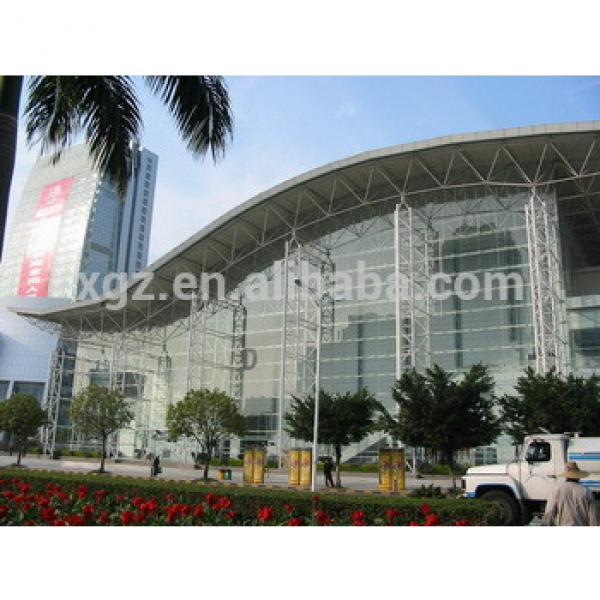 china prefabricated glass curtain steel building #1 image