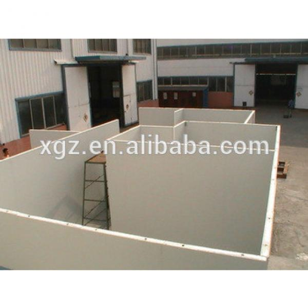 Flat roof steel structure prefabricated sandwich panel house #1 image
