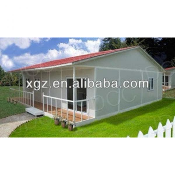 Slop roof steel frame prefabricated residential house #1 image