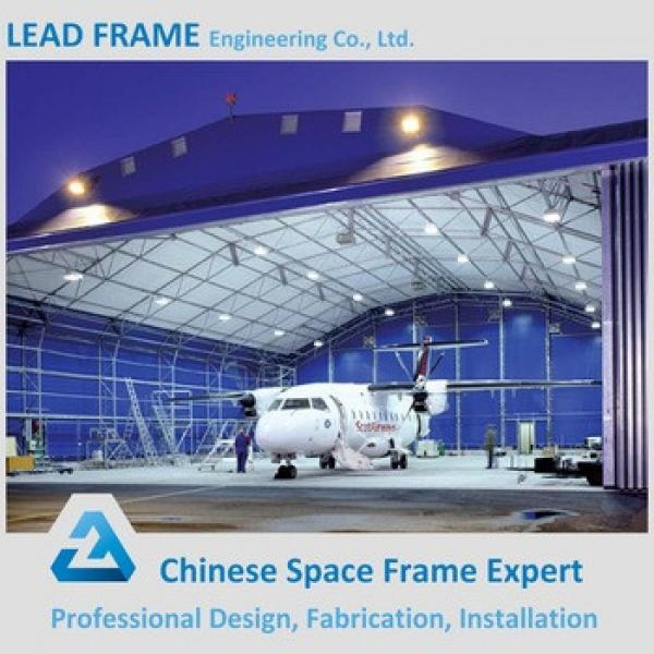 Long Span Prefab steel structure space frame arch airplane hangar #1 image