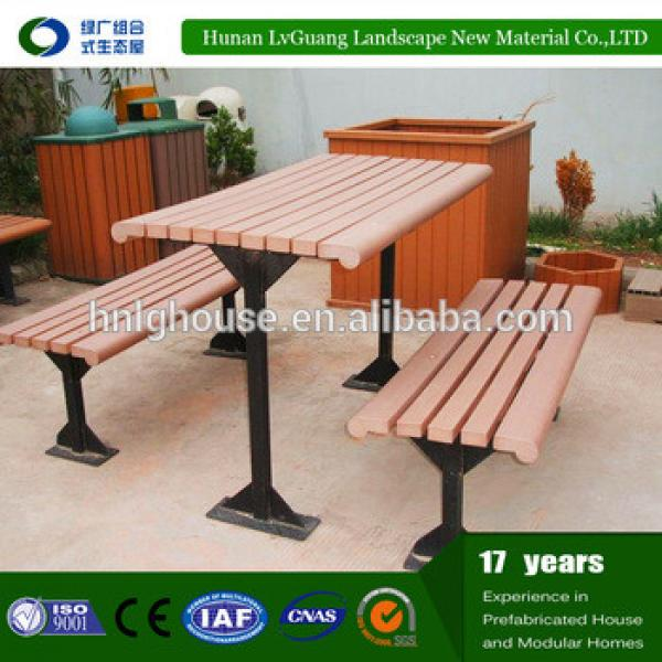 Outdoor solid wpc wood picnic table and benches #1 image