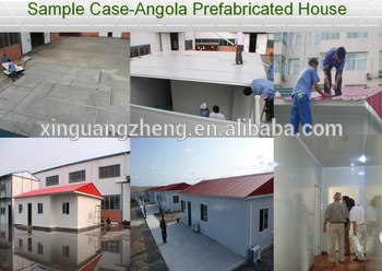 2017 Angola prefab house with good quality china