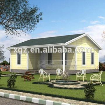 low cost prefab homes houses with steel frame and EPS sandwich panel