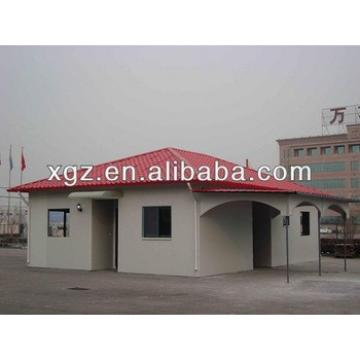 Hipped roof steel structure prefabricated house