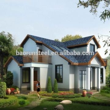 prefab home real estate one foor or two storey house plan light steel structure