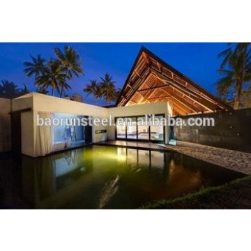 Mediterranean Style Luxury Light Gauge Steel Structure Prefabricated Villa