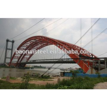 reinforced steel galvanized single lane bailey truss bridge of long span