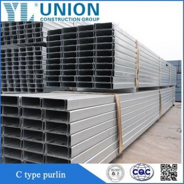 galvanized c type purlin channel