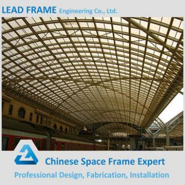 Light Weight steel structure space frame for train station