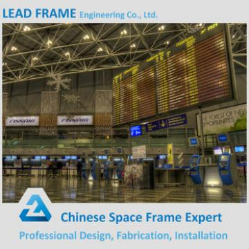 long span steel trusses airport roof structure