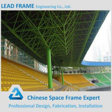 Attractive and durable space frame roofing system for bleachers
