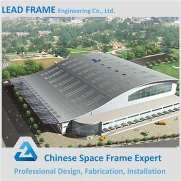 Galvanized steel long span space frame football stadium