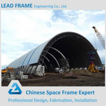 Corrugated Light Space Truss Structural Steel Frame Structure Roofing for Barrel Coal Storage