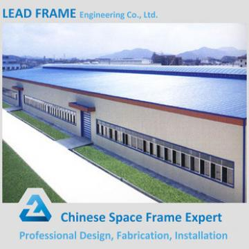 Galvanized Large Span Light Steel Structure Warehouse With Low Price