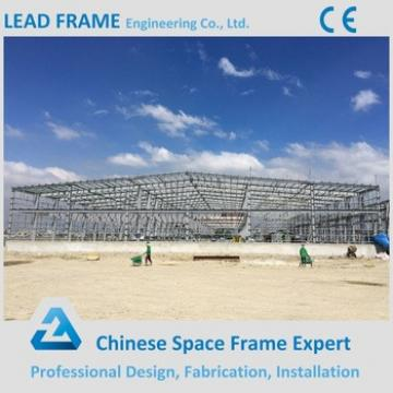 Large span space frame roof structural steel workshop