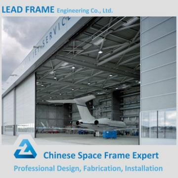 Galvanized airplane hangar with steel structure covering