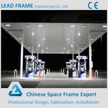 Light Type Steel Structure Space Frame Gas Station Canopy Metal Roof