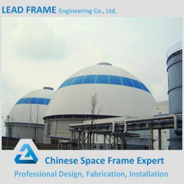Prefab Steel Space Frame Structure Limestone Dome Storage