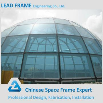 Long Span Light Type Prefab Steel Grid Space Frame Glass Dome Cover